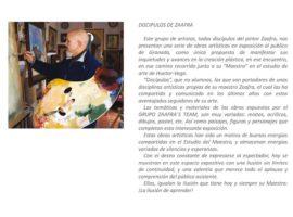 Exposición de pintura de discípulos del Maestro David Zaafra (VIDEO)