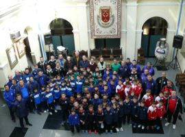 Recepción en el Ayuntamiento a los participantes en el Campeonato de Andalucía de Selecciones Provinciales de Fútbol Sala Benjamín