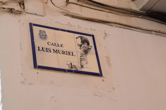 Una de las calles que llevan a la Biblioteca se llama desde hoy Luis Muriel en recuerdo al entrañable bibliotecario accitano