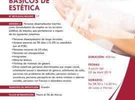 Nuevo curso del proyecto Granada Empleo de Diputación en Guadix sobre Servicios Básicos de Estética