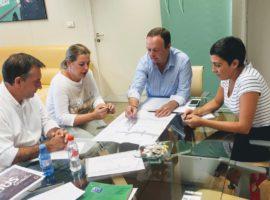 Junta y Ayuntamiento de Guadix acuerdan redactar el proyecto para acondicionar la Avenida de Buenos Aires